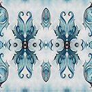 Blue Baroque Leaf Scroll-r100 by Heidivaught