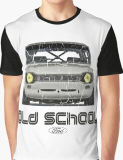 Classic Ford Escort MK1 Old School Distressed T-Shirt Graphic T-Shirt
