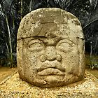 Olmec Colossal Head by Arsonista Gartzia