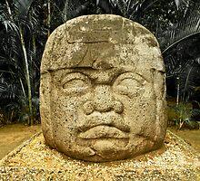 Olmec Colossal Head by Arsonista Gartzia