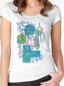 City Tweets Women's Fitted Scoop T-Shirt