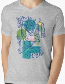 City Tweets Mens V-Neck T-Shirt