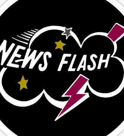 Muppet News Flash - Logo Design  Sticker