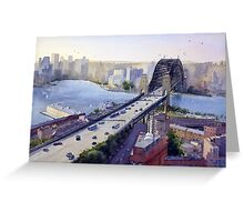 Sydney Harbour to the West Greeting Card