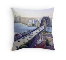 Sydney Harbour to the West Throw Pillow