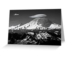 Rainier with clouds Greeting Card