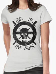 I live again (black) Womens Fitted T-Shirt