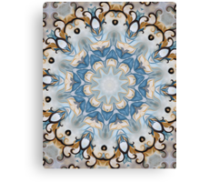 Baroque Blue yellow Rosette-R002 Canvas Print