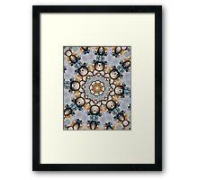 Baroque Blue yellow Rosette-R009 Framed Print