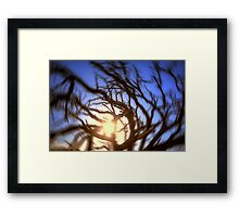 Spinning Sunset Framed Print