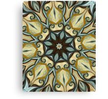 Baroque Blue Rosette- R007 Canvas Print