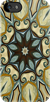Baroque Blue Rosette- R007 by Heidivaught