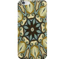 Baroque Blue Rosette- R007 iPhone Case/Skin