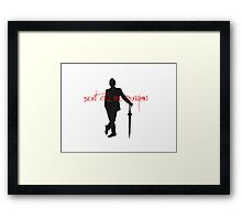 Don't call me penguin Framed Print