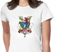 Bright Coloured Key Hole Heart Womens Fitted T-Shirt