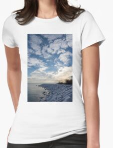 Cirrocumulus Clouds and Sunshine - Lake Ontario, Toronto, Canada Womens Fitted T-Shirt