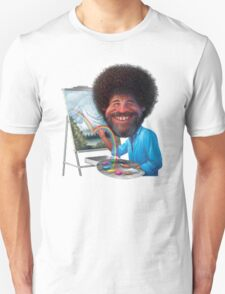 Bob Ross Cartoon T-Shirt