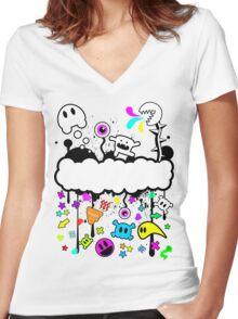 Trippy de-do-da Women's Fitted V-Neck T-Shirt