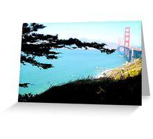 """Golden Gate Tree Harmony"" by Bradley Blalock Greeting Card"