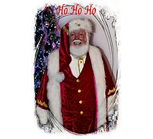 Christmas Card - Ho Ho Ho Photographic Print