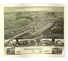 Panoramic Maps Girardville Pennsylvania Poster