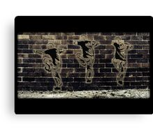 Fighting Graffiti Canvas Print