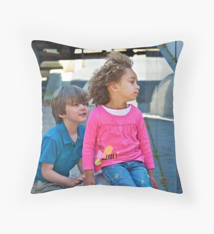 It was spring. And  He asked , Can I kiss you?... Throw Pillow