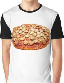 Pizza With Pepperoni and Sausage Graphic T-Shirt