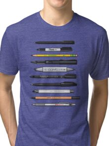 Pen Collection For Sketching And Drawing (Plain) Tri-blend T-Shirt