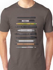 Pen Collection For Sketching And Drawing (Plain) Unisex T-Shirt
