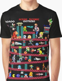 1980s Arcade Heroes Graphic T-Shirt
