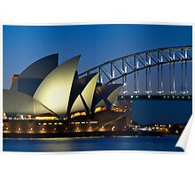 The Sydney Opera House and Harbour Bridge Poster