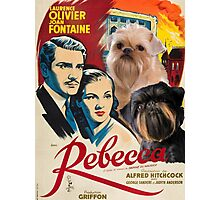 Brussels Griffon Art - Rebecca Movie Poster Photographic Print