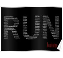Awolnation's Run Lyric Poster Poster