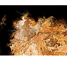 Molten Rock & Leaves in Wester Ross Photographic Print