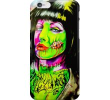 Punk Rock Zombie Chick COLOUR iPhone Case/Skin