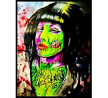 Punk Rock Zombie Chick COLOUR Photographic Print