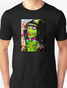 Punk Rock Zombie Chick COLOUR T-Shirt