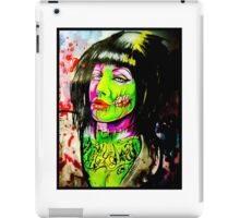 Punk Rock Zombie Chick COLOUR iPad Case/Skin