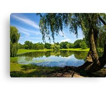 Summer in the Park Landscape Canvas Print