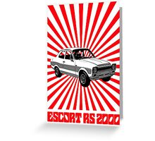 RS 2000 Ford Escort Classic Car  Greeting Card
