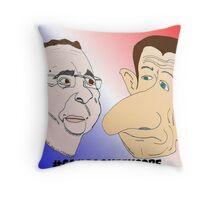 News Options Binaires Caricature Hollande et Sarkozy Throw Pillow