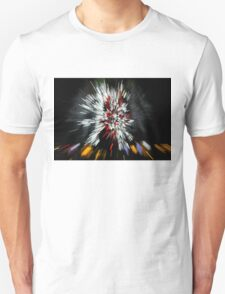 Abstract Christmas Lights - Color Streaks  T-Shirt