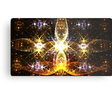 Golden Fireflies Metal Print