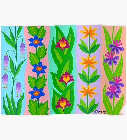 FLOWER SPLENDOUR - AQUAREL Poster