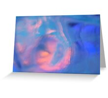Blue emotion - JUSTART © Greeting Card
