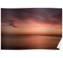 South China Sea Dawn Glow. Poster