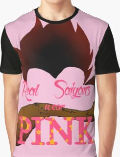 Real Saiyans Wear Pink Graphic T-Shirt