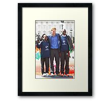 The Winners of the London Marathon 2012 Framed Print