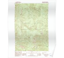 USGS Topo Map Washington State WA Bare Mountain 239936 1986 24000 Poster
